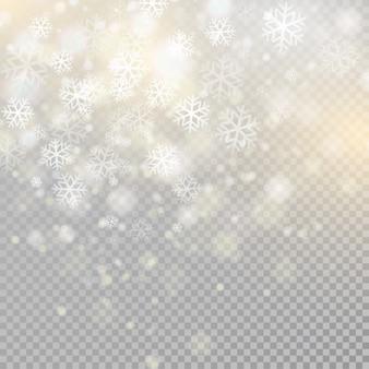 Bokeh jasnoszary błyszczy na tle przezroczystości świecący element cząstek do efektów specjalnych.