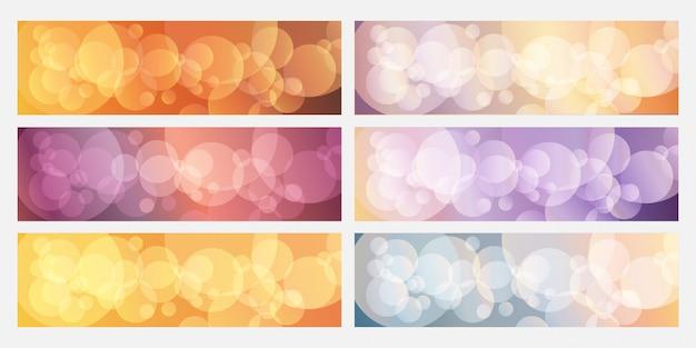 Bokeh kolorowy transparent tło kolekcja