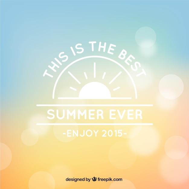 Bokeh na lato