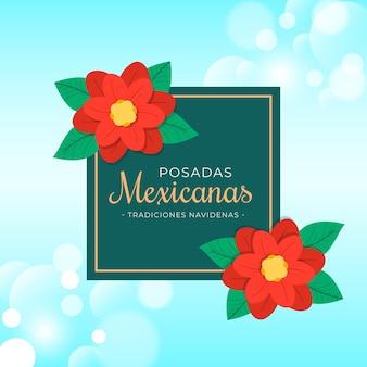 Bokeh posadas mexicanas tło