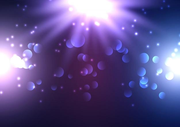 Bokeh świateł tło z światłami reflektorów