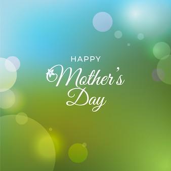Bokeh szczęśliwy dzień matki