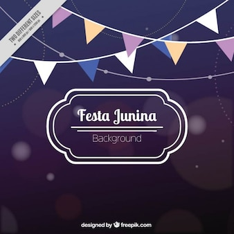 Bokeh tła festa junina girlandami
