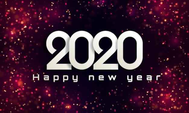Bokeh zaświeca bożego narodzenia 2020 tło