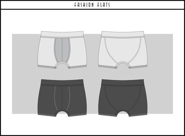 Bokserki moda płaski projekt ilustracji