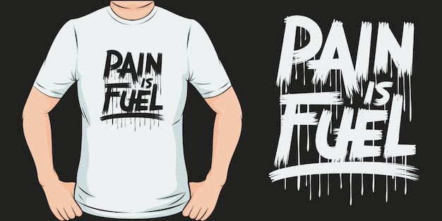 Ból jest paliwem. unikalny i modny design koszulki covid-19.