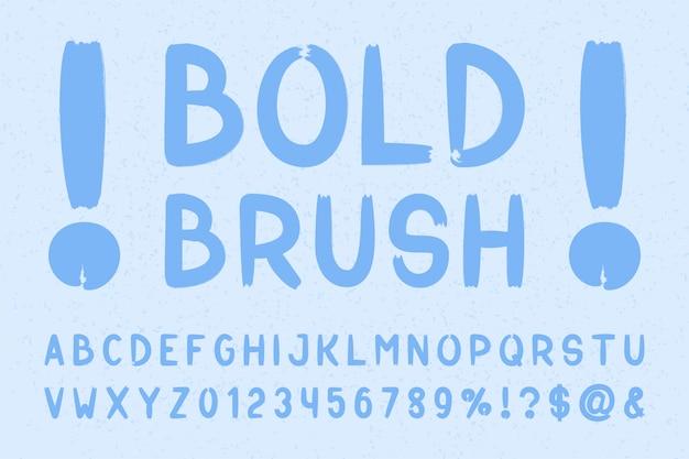 Bold brush sans serif font