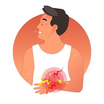 Bolesna żołądka koncepcja ilustracji wektorowych
