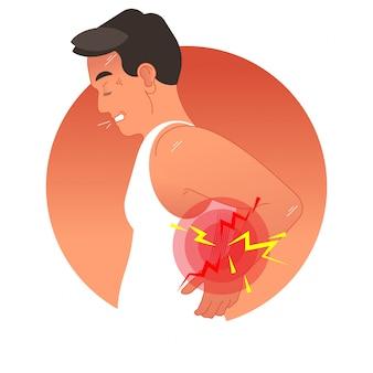 Bolesne plecy pojęcie wektoru ilustracja
