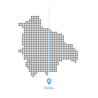 Boliwia zapełniona mapa desgin wektor
