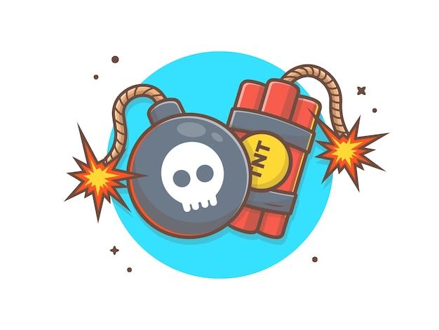 Bomba i tnt wektorowa clipart ilustracja