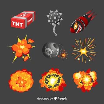 Bomba komiksowa i kolekcja efektów wybuchu bomby