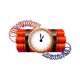 Bomba z zegarem wektor