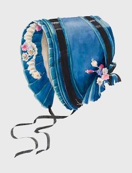 Bonnet vintage ilustracji wektorowych, zremiksowany z grafiki autorstwa doris beer.