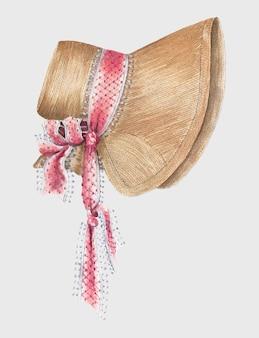 Bonnet vintage ilustracji wektorowych, zremiksowany z grafiki autorstwa esther hansen.