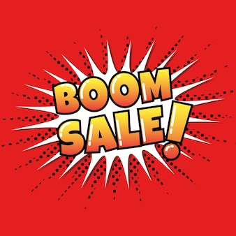 Boom sale with comic style