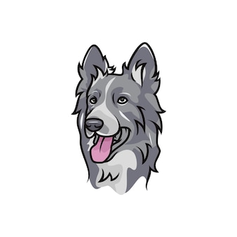 Border collie dog - wektor logo / ikona ilustracja maskotka