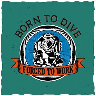 Born to drive design do nadruku na koszulce