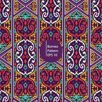 Borneo kolorowy wzór bezszwowe tło patten