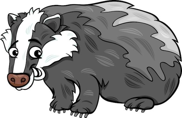 Borsuk ilustracja kreskówka zwierząt
