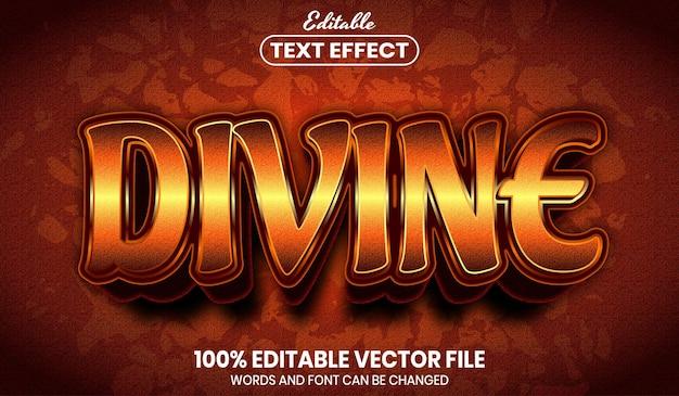 Boski tekst, edytowalny efekt tekstu w stylu czcionki font