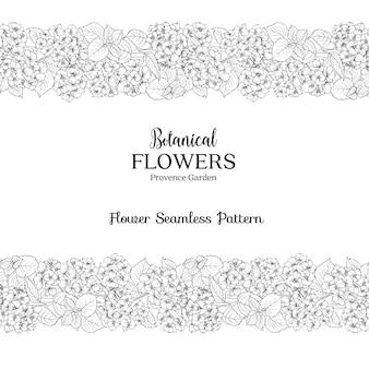 Botaniczna karta kwiatowa.