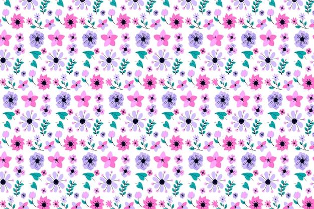 Botaniczny ditsy tle kwiatów