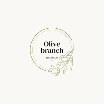 Botaniczny gotowy szablon logotypu line art minimalna i nowoczesna tożsamość marki