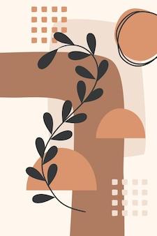Botaniczny plakat geometryczny