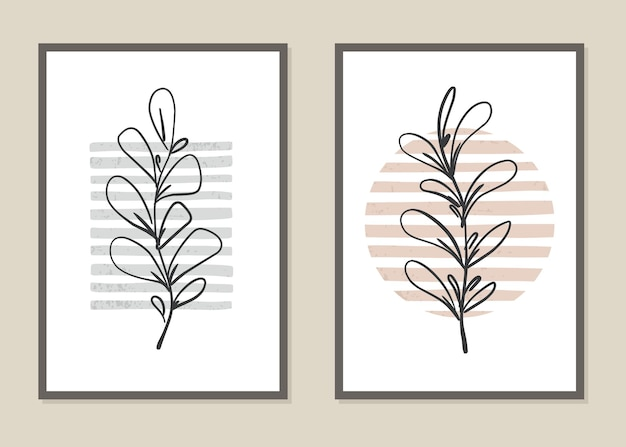 Botaniczny wzór kwiatów i gałęzi