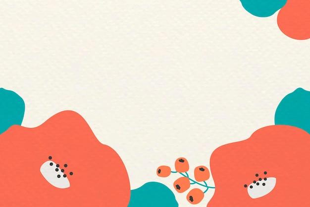 Botaniczny wzór ramki na beżowym tle
