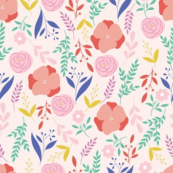 Botaniczny wzór. tle kwiatów