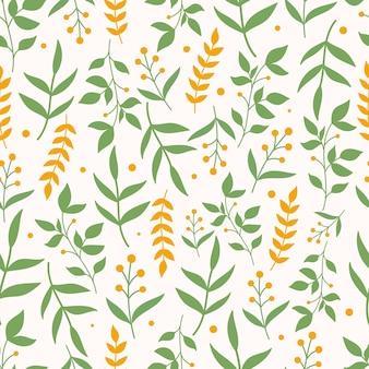 Botaniczny wzór z kwiatami na pastelowym różowym tle. tapety w liście i kwiaty.