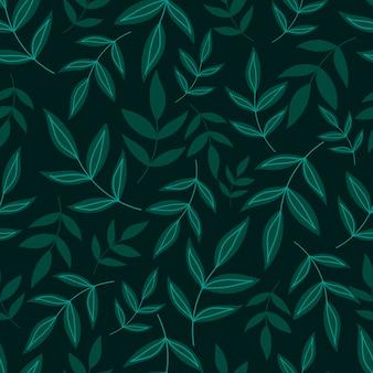 Botaniczny wzór z zielonymi liśćmi. tapety w liście i kwiaty. tło kwiatowe.