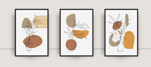 Botaniczny zestaw na ścianę