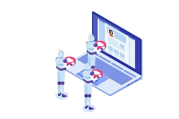 Boty mediów społecznościowych fałszywe metody automatyzacji koncepcji kont w celu zdobycia obserwujących