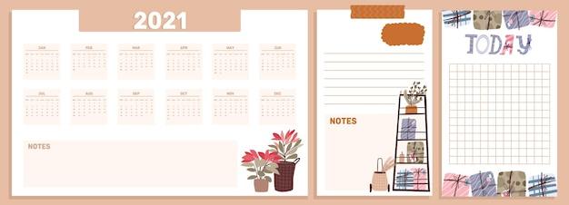 Boże narodzenie 2021 kalendarz świąteczny zestaw kolekcja naklejki, dziennik, notatki