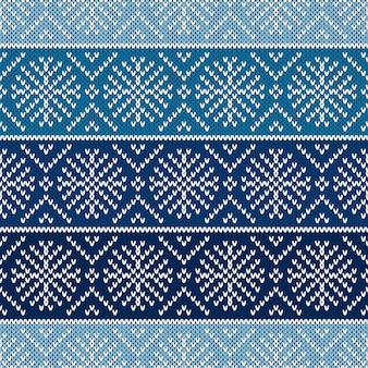 Boże narodzenie bezszwowe dzianiny wzór z płatkami śniegu