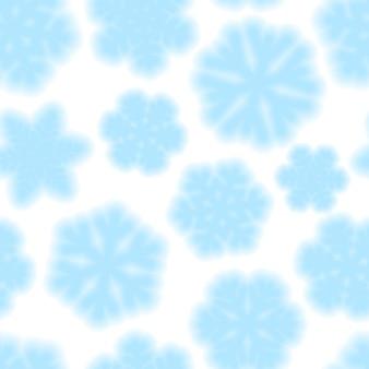 Boże narodzenie bezszwowe wzór płatków śniegu, jasnoniebieski na białym tle