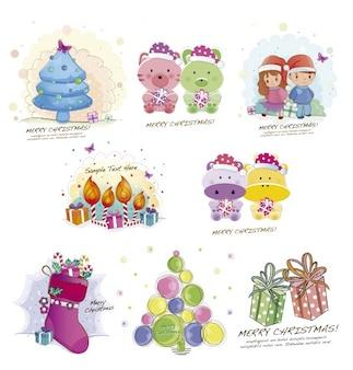 Boże Narodzenie Cute Ilustracji Darmowych Wektorów