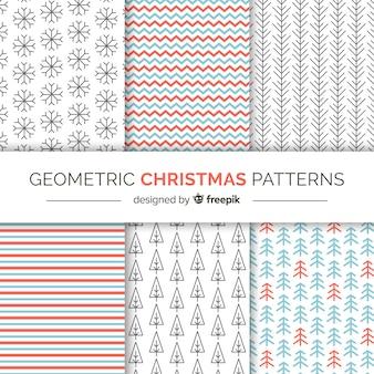 Boże narodzenie geometryczne wzory