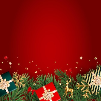 Boże narodzenie holiday party tło szczęśliwego nowego roku i wesołych świąt plakat szablon