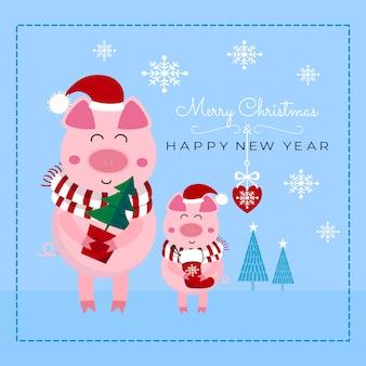 Boże narodzenie i nowy rok karty