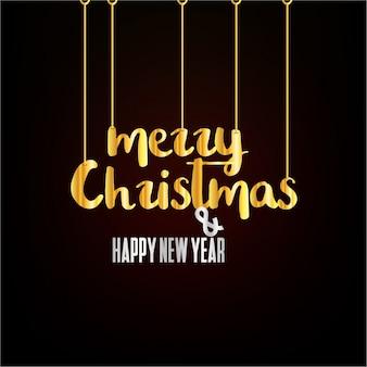 Boże narodzenie i nowy rok powitanie karta