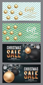 Boże narodzenie i nowy rok sprzedaż tło, szablon kupon rabatowy. ilustracja wektorowa eps10