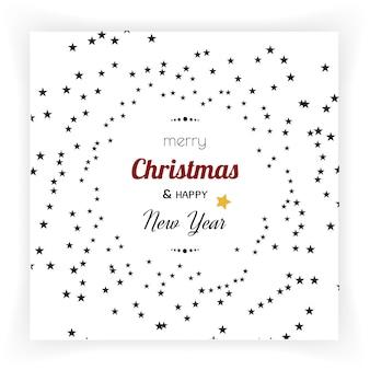 Boże narodzenie i nowy rok tła i karty z pozdrowieniami.