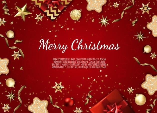 Boże narodzenie i nowy rok tło z brokatem złota tekstury, kartki świąteczne