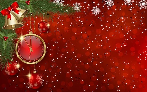 Boże narodzenie i nowy rok tło z zimowym wystrojem
