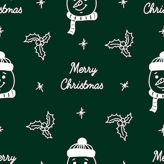 Boże narodzenie i nowy rok wzór w stylu doodle