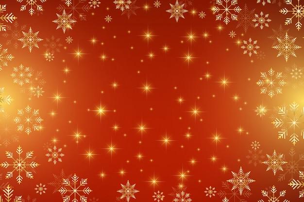 Boże narodzenie i szczęśliwego nowego roku tło z złote płatki śniegu. ilustracja.